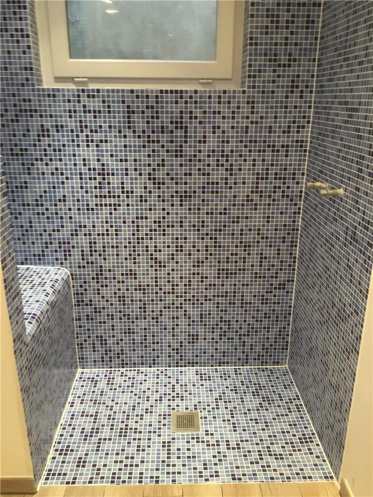 douche italienne imitation parquet : sol 20x180cm murs ...